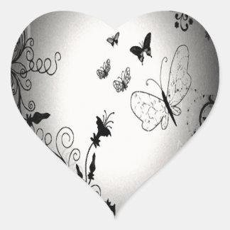 Butterflies Heart Sticker