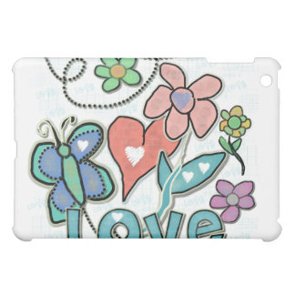 Butterflies Hearts Flowers Love iPad Mini Covers