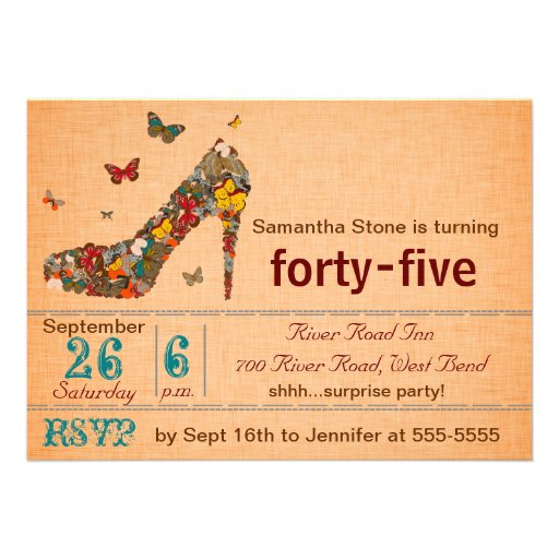 45th Birthday Colors | Party Invitations Ideas