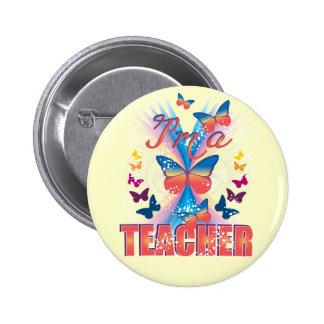 Butterflies I'm a Teacher Pin