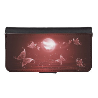 Butterflies in Crimson Moonlight iPhone SE/5/5s Wallet