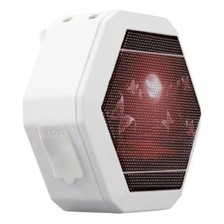 Butterflies in Crimson Moonlight White Bluetooth Speaker