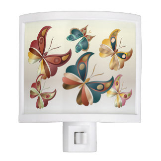 Butterflies In Flight - Night Light