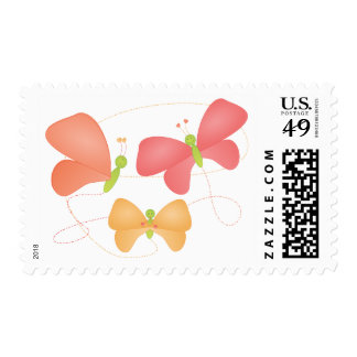Butterflies in Fruity Colors Postage