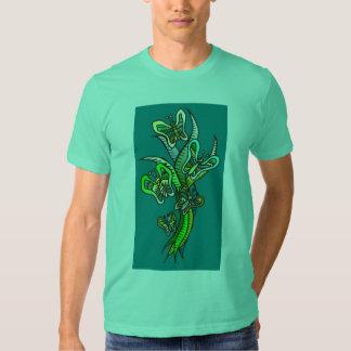 Butterflies in Green T-shirt