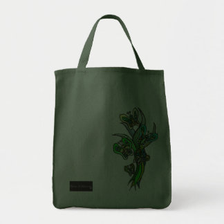 Butterflies in Green Tote 2 Canvas Bags