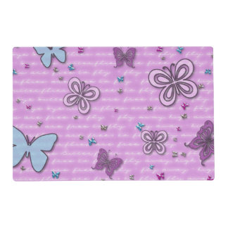 Butterflies In Pink And Purple Placemat