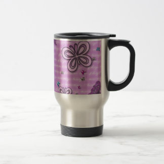 Butterflies In Pink And Purple Travel Mug