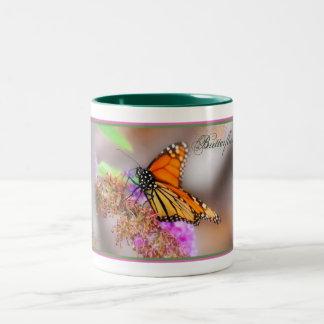 Butterflies in the Mist Two-Tone Coffee Mug