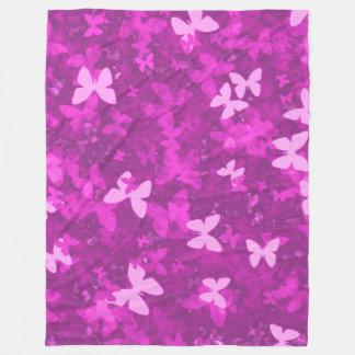 butterflies in the pink fleece blanket