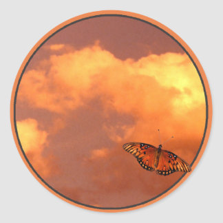 Butterflies in the Sky Classic Round Sticker