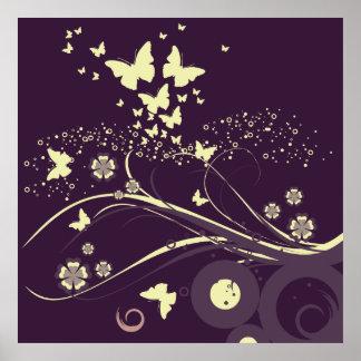Butterflies in the Sky Poster