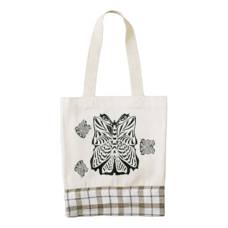 """""""Butterflies in the Wind"""" Tote Zazzle HEART Tote Bag"""