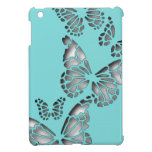 Butterflies in Turquoise iPad Mini Cases