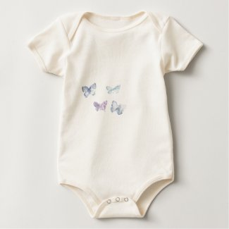 'Butterflies' Infant All-in-One 'Creeper' shirt