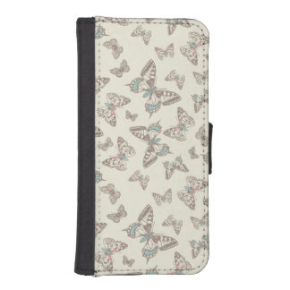 Butterflies inked pattern art flap case iPhone 5 wallet