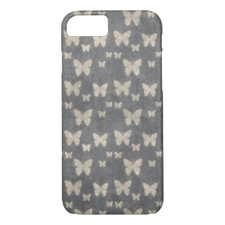 Butterflies, Insects - Gray, Eggshell Yellow iPhone 8/7 Case