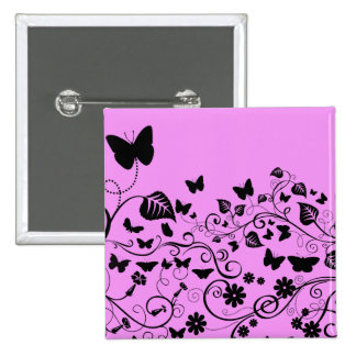 Butterflies, Insects - Pink and Black Pins