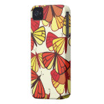 Butterflies, Insects - Red Orange Yellow Black iPhone 4 Case-Mate Cases
