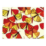 Butterflies, Insects - Red Orange Yellow Black Post Cards