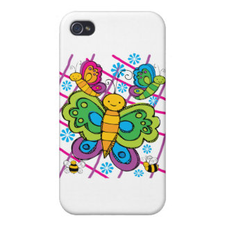 Butterflies Cases For iPhone 4