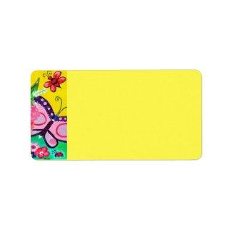 Butterflies & Ladybugs Address Label label
