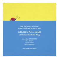 Butterflies &amp; Ladybugs Bachelor Party 5.25x5.25 Square Paper Invitation Card (<em>$2.95</em>)