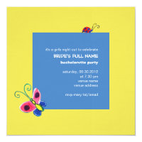 Butterflies &amp; Ladybugs Bachelorette Party Card (<em>$2.95</em>)