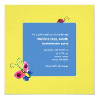 Butterflies &amp; Ladybugs Bachelorette Party 5.25x5.25 Square Paper Invitation Card (<em>$2.95</em>)