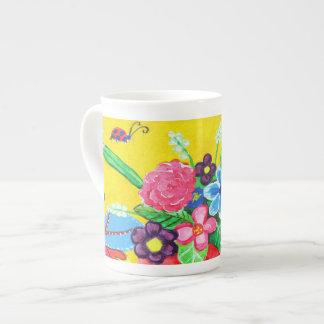 Butterflies & Ladybugs Bone China Mug Tea Cup