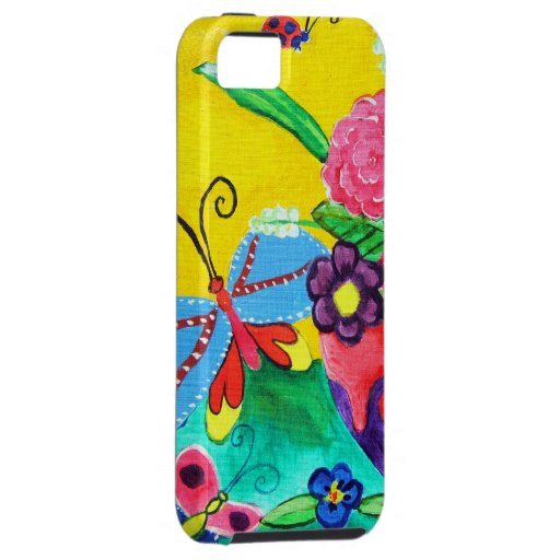 Butterflies & Ladybugs iPhone 5 Tough iPhone 5 Cover