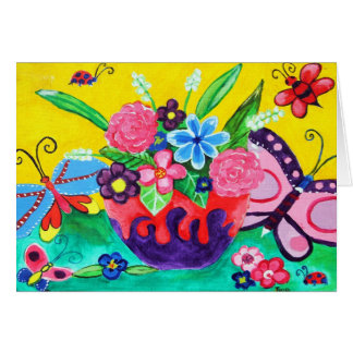Butterflies & Ladybugs Note Card