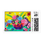Butterflies & Ladybugs Postage Stamp