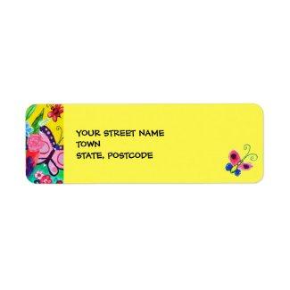 Butterflies & Ladybugs Return Address Label 2