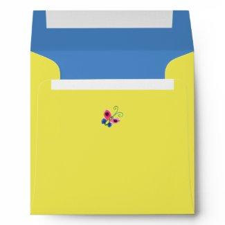 Butterflies & Ladybugs Square Envelope envelope
