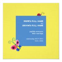 Butterflies &amp; Ladybugs Wedding Announcement (<em>$2.95</em>)