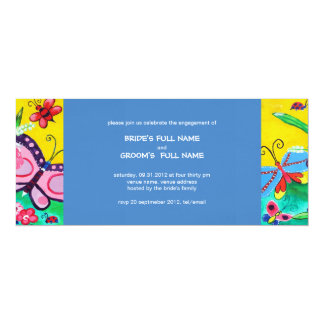 Butterflies & Ladybugs Wedding Engagement Invite