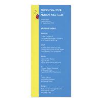 Butterflies &amp; Ladybugs Wedding Menu Card (<em>$3.25</em>)