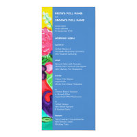 Butterflies &amp; Ladybugs Wedding Menu 4x9.25 Paper Invitation Card (<em>$3.25</em>)