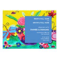 Butterflies &amp; Ladybugs Wedding Reception Invite 2 (<em>$2.80</em>)