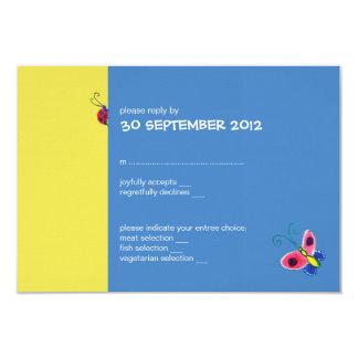 Butterflies & Ladybugs Wedding RSVP Card