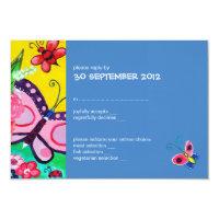 Butterflies &amp; Ladybugs Wedding RSVP Card 2 Invite (<em>$2.55</em>)