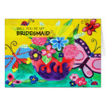 Butterflies & Ladybugs Will You Be My Bridesmaid Cards