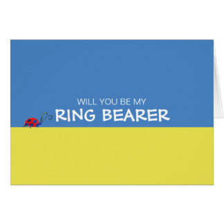 Butterflies & Ladybugs Will You Be My Ring Bearer Card