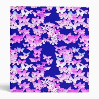 Butterflies, lavender and dark blue binder