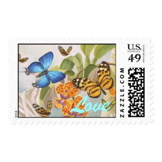 """Butterflies """"Love"""" Stamp"""