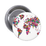 Butterflies Map of the World Badges