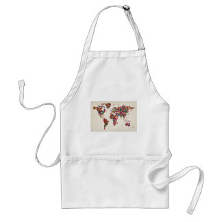 Butterflies Map of the World Map Aprons