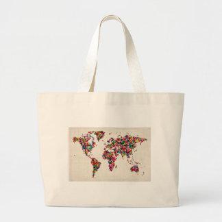 Butterflies Map of the World Map Bag