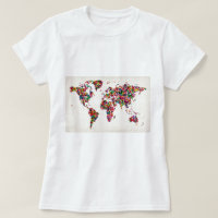 Vintage world map t shirts shirt designs zazzle mens t shirts butterflies map of the world map gumiabroncs Images